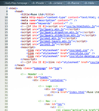 WebFuture website code